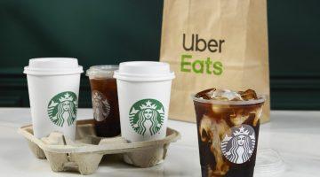 Met Uber Eats verse Starbucks koffie aan huis