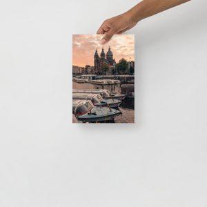 Dam Sunrise Poster