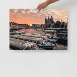 Dam Sunrise V2 Poster